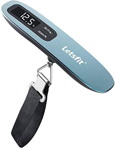Letsfit Digital Luggage Scale 110lbs Hanging Baggage Scale with Backlit LCD Display Portable product image