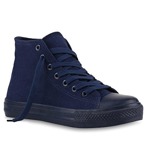 stiefelparadies Damen Schuhe 140030 Sneakers DUNKELBLAU 39 Flandell