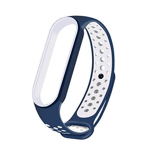 Volking Braccialetto sostitutivo per smartwatch, Cinturino sostitutivo in Silicone per Uomo e Donna, Braccialetti sostitutivi Sportivi Regolabili per Xiaomi Mi Band 5 e Xiaomi Mi Band 5 NFC