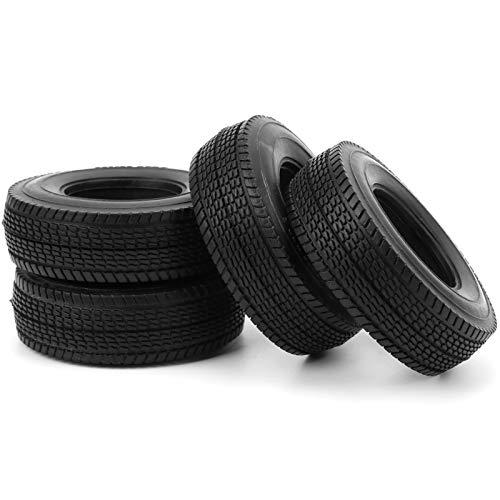 XINMYD Neumático de Coche RC, 4 Piezas 25 mm 85 mm con espumas Neumáticos de Goma universales para Rueda de neumáticos Aptos para Coche RC 1/14