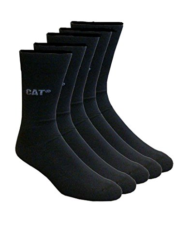 Caterpillar CAT Herren Businesssocken wahlweise 5|10|15|20 Paar, in 39-42/43-46, in Schwarz und/oder Bunt-Mix, große Farb- und Mengenauswahl, Socken (43-46, 15 Paar Schwarz)