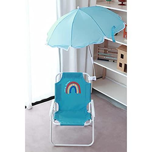 DYCLE Tumbonas para niños con sombrilla, Silla de jardín Plegable para niños para Interiores y Exteriores, Silla de Playa para niños de 0 a 8 años
