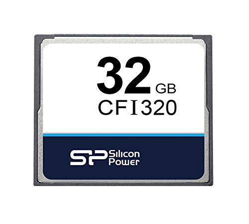 Silicon Power 32GB CFI320 Industrial CompactFlash Memory Card 0-70℃ MLC 1 32GB storage capacity Read speed up to 115MB/sec - write speed up to 90MB/sec Temperature range from 0-70 degrees celsius