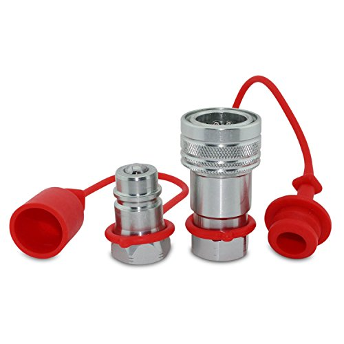 1/2 Ag ISO 5675 Hydraulic Quick Connect Tractor Couplers, Ball Pioneer Style ISO 5675 w/Dust Caps