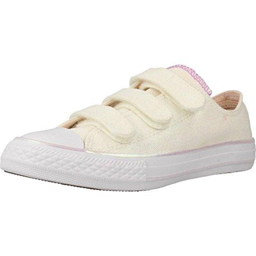Converse Unisex-Kinder Chuck Taylor All Star 3V OX Sneaker, Weiß Weiß Weiß, 34 EU