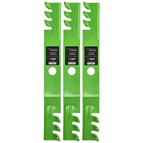 8TEN LawnRAZOR Mulching Blade 60 inch Deck for Kubota B1550 70000-00602 70000-25001 76539-34330 K5651-34340 3 Pack