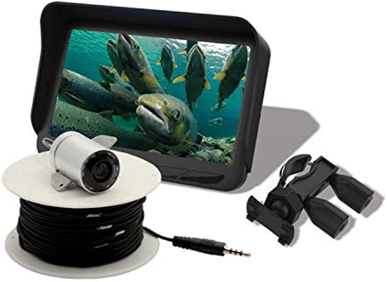 ZHJIUXING HO Fish Finder Alarm 100M   328ft Tragbarer Fischsonarsensor Verdrahteter LCD-Echolot Echolot, 140 Grad 4,3 HD-Farb-Digital-LCD, Gelb