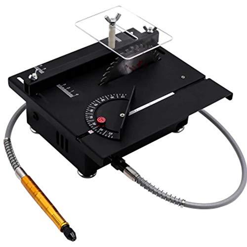 XMGJ Mini Sierra De Mesa Pequeño DIY, Máquina Picadora De Tabla De Jade para Carpintería, Modelo De Precisión, Sierra Multifunción, Corte Pequeño