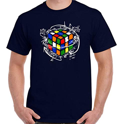 Rubik Cube Camiseta De Algodón para Hombre Deportes Al Aire Libre Ocio Manga Corta Patrón Creativo Camiseta Verano Top