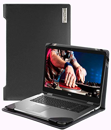 "Broonel - Serie de perfiles - Estuche para De Cuero Negro - Compatible con La DELL Inspiron 13-7391 13 ""Full HD Black Convertible Touch Laptop"