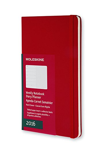 Moleskine 12 Monate Wochen-Notizkalender/Taschenkalender 2016, Pocket, A6, Hard Cover, scharlachrot