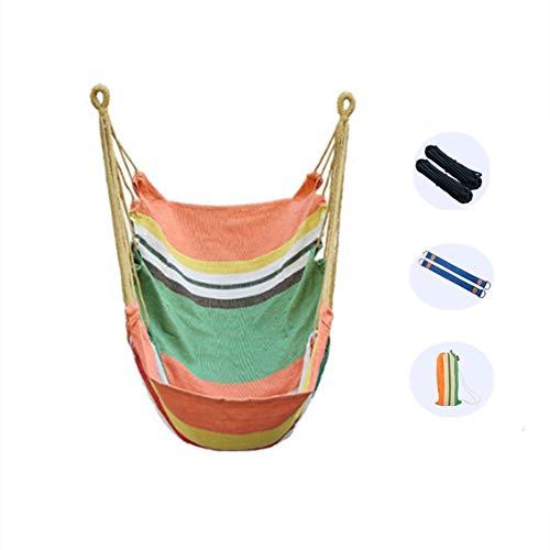 Schommelstoel voor tuin, hangende hangstoel, grote canvas schommelstoel Vrije stoel Draagbaar voor binnen Buiten Slaapkamer Tuin Balkon,B