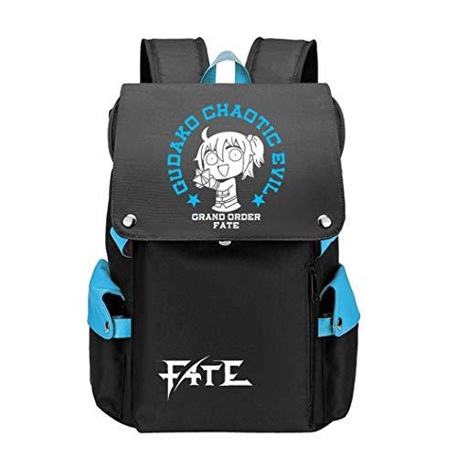 WANHONGYUE Anime Fate Zero/Stay Night/Grand Order Cosplay Backpack Rucksack Mochilas Escolar Bolsa de Escuela Mochila para Portátil 15.6 Pulgadas Azul / 1