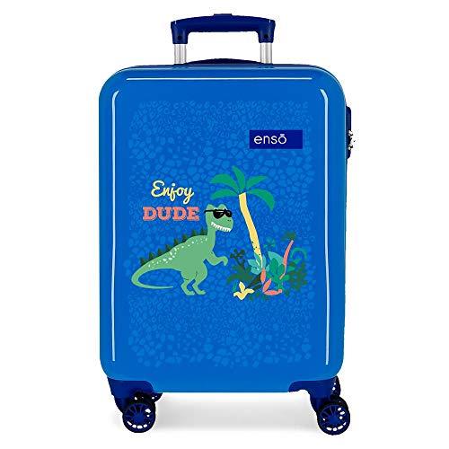 Enso Dino Luggage, 37x55x20 cm, Blue