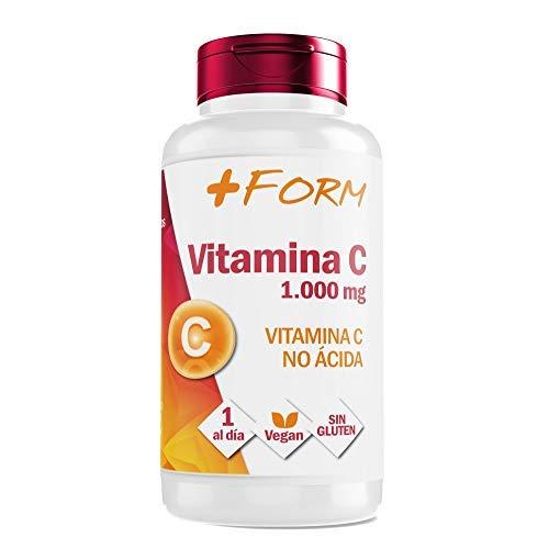 Vitamina C 1000mg | Vitamina C pura Altamente Concentrada| Mantiene y Refuerza las Defensas | Suplemento Alimenticio 100% Natural | 1 Cápsula al día | 60 Comprimidos