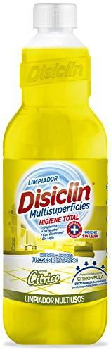 Disiclin Limpiador Higienizante Multiusos, Cítrico/Citronella 1 Litros 1000 ml