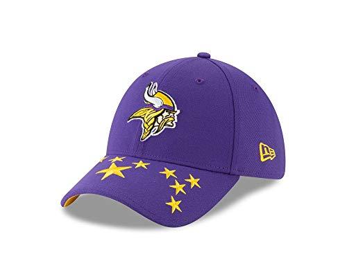 New Era 2019 NFL Minnesota Vikings Draft Hat Cap City Flag 39Thirty (M/L) Purple