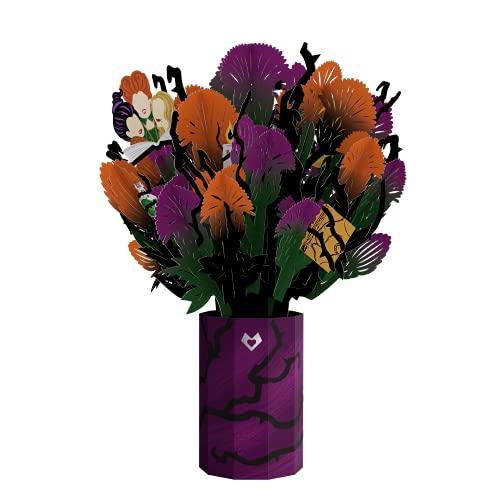 Lovepop Disney's Hocus Pocus Spellbinding Bouquet Pop Up Card, 10.25x7 - 3D Flower Greeting Card, Halloween Flowers, Halloween Birthday Cards