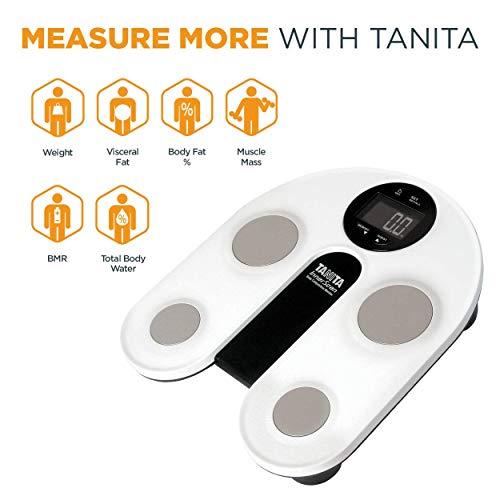 Tanita UM-076 - Báscula de baño, metal, blanco, lcd