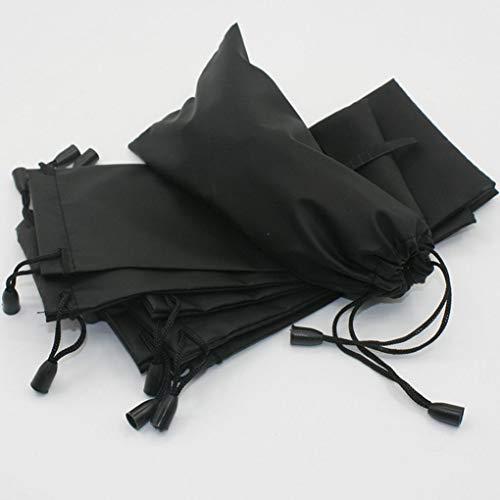 Gankmachine Gafas de Sol Negras Funda Bolsa Organizador Bolsa Cierre de cordón
