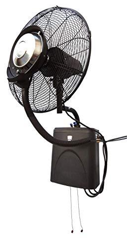 Ventilatore da parete per esterno Ventilatore oscillante con serbatoio di riserva 4 litri collegabile direttamente al tubo dell'acqua Protezione IP24