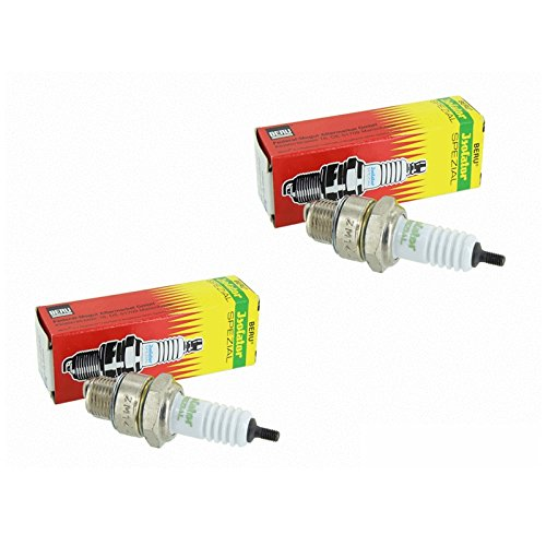 AKF Kit :lot de 2 bougies d'allumage ISOLATOR M14-260,Simson S51, S50, SR50, Schwalbe KR51, SR4