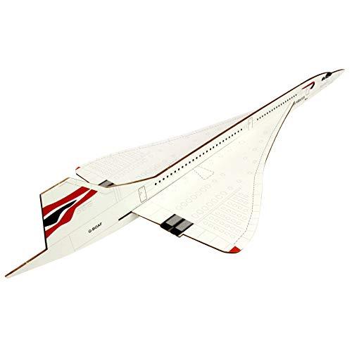 Prestige Models Concorde Freiflug Balsaholz Modellflugzeug Kit Spannweite 200mm