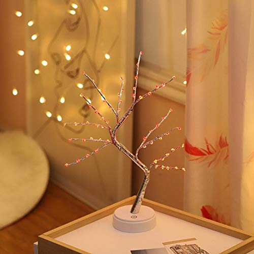 Lantern Copper Wire Tree Light Led Night Light Touch Switch USB Battery Bonsai Tree Light Gypsophila Lamp Party Wedding Decor 10