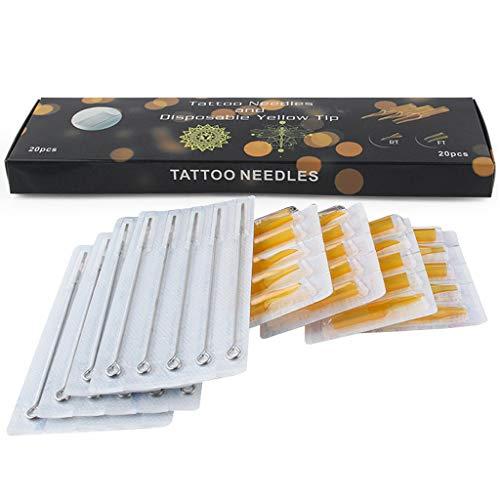 IUUH El Kit De Herramientas De Aguja para Tatuaje 20PCS + 20pcs Principiantes Permanentes Profesionales Debe (Color : 1207RL-7RT)