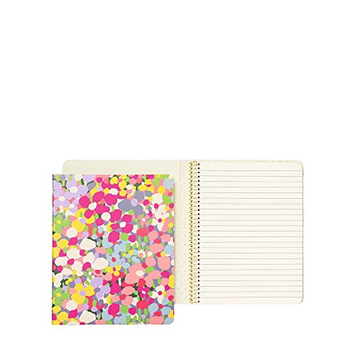 Kate Spade New York Small Concealed Spiral Notebook College Ruled Hardcover Journal with 112 Lined Pages Floral Dot