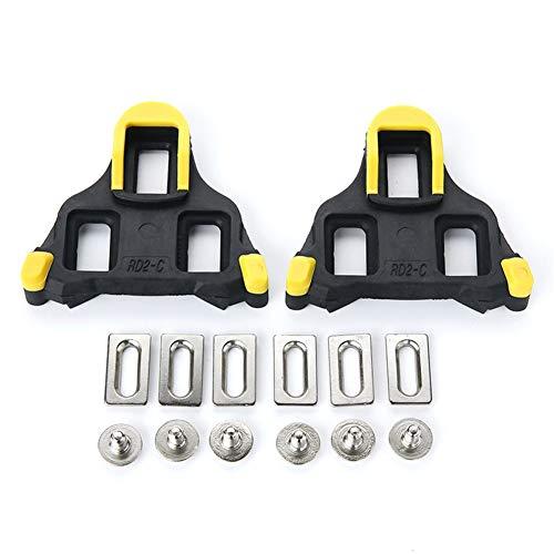 YYC - Tacos de ciclismo compatibles con Shimano SPD-SL, uso con pedales sin clips, flotador fijo, 4,5 grados, cubiertas de tacos
