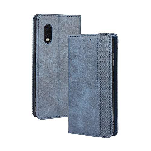 LAGUI Kompatible für Samsung Galaxy Xcover Pro Hülle, Leder Flip Hülle Schutzhülle für Handy mit Kartenfach Stand & Magnet Funktion als Brieftasche, Blau