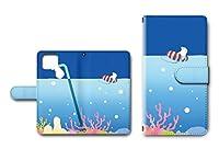 Google Pixel5 専用 手帳型ケース カメラ穴搭載 ダイアリー スマホケース スマホカバー レザー製 しろくま 海水浴 【デザインE】 グーグル ピクセル ファイブ dc-669