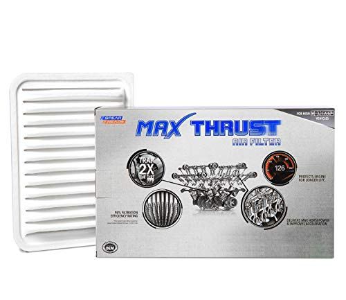 Spearhead Max Thrust Performance Engine Air Filter For All Mileage Vehicles - Increases Power & Improves Acceleration (MT-190)