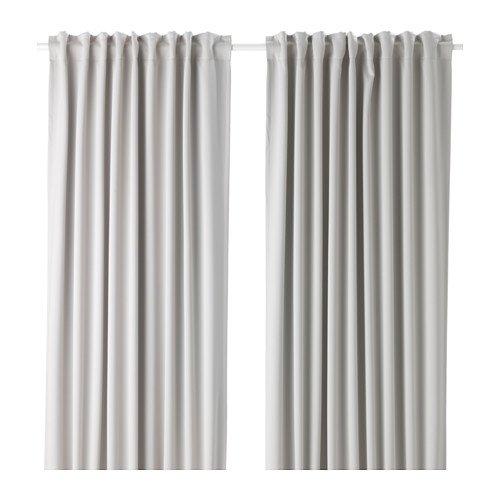 IKEA MAJGULL 2 Gardinenschals in hellgrau; verdunkelt; (145x300cm)