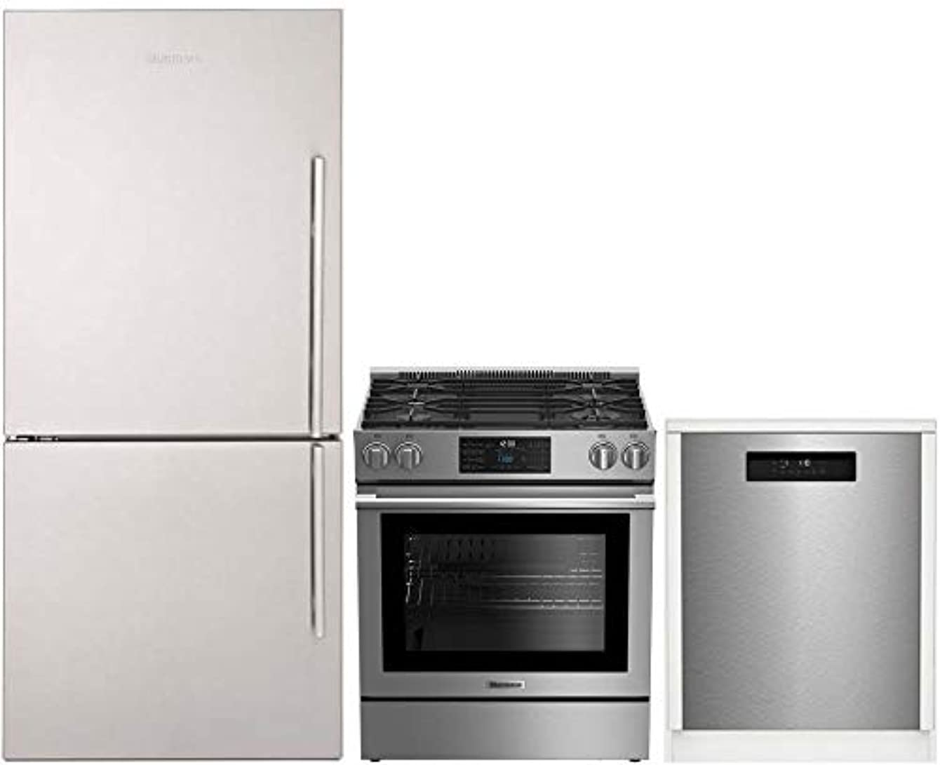 Blomberg 3-Pcs Kitchen Appliances Package with BRFB1812SSLN 30