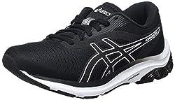 ASICS Damen Gel-Pulse 12 Road Running Shoe, Black/White, 39 EU