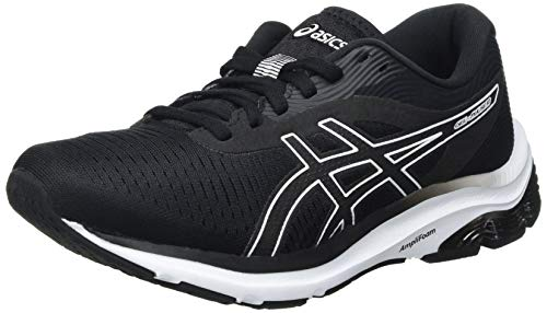ASICS Damen Gel-Pulse 12 Road Running Shoe, Black/White, 40.5 EU