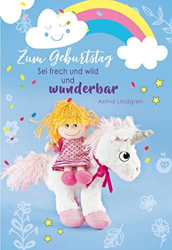 Geburtstagskarte, Kindergeburtstag, Geburtstagskarte Einhorn, im Format DIN B6 176 x 125 mm, Klappkarte inkl. Umschlag, Motiv: Einhorn