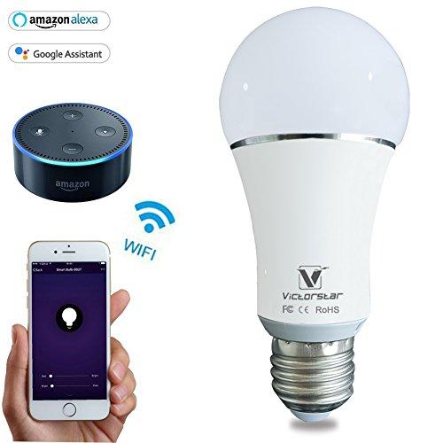 WiFi Lampadina Alexa LED Leggero - Senza Fili Multicolori Dimmerabile Lampada Funziona con Alexa, iOS, Android per App, Controllo del Gruppo, Scena, Luce del Sole e Timer, E27, 5W
