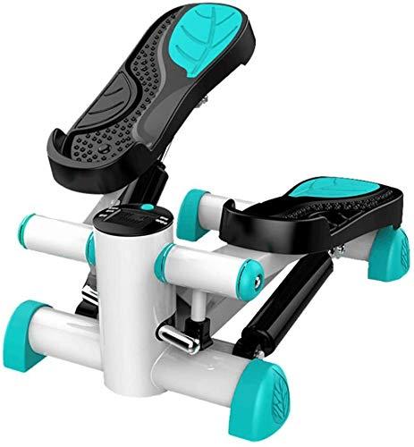 YPYJ Mini pedal de fitness paso con ordenador de entrenamiento, contador de calorías, silenciador de pérdida de peso, máquina de entrenamiento de estufa, azul, L