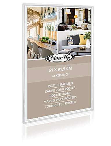 Close Up Posterrahmen, Bilderrahmen, Frame (61x91,5 cm / 24x36) Weiß, White - für großformatige Maxi Poster, Acrylglas bruchsicher - DER Klassiker