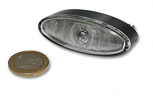 Led arrière Mini ovale clair, objectif, Marquage E