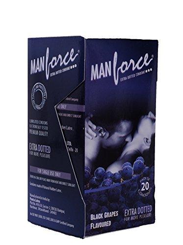 Manforce Black Grapes Dotted 20 Pcs by Manforce