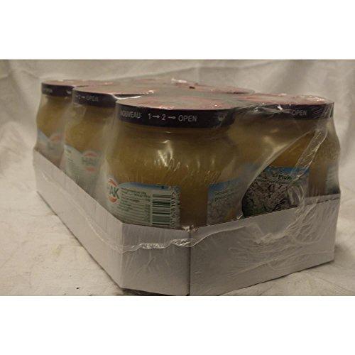 HAK Appelcompote met Stukjes Appel 6 x 370g Glas (Apfelkompott mit Apfelstückchen)
