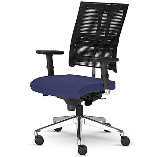 Testsieger Stiftung Warentest Bürostuhl Net Motion mit 3D Armlehnen Drehstuhl Blau ergonomischer Drehstuhl von Nowy Styl