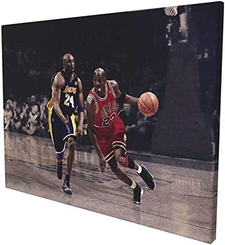 IOIP Lienzos De Fotos 30x50cm Sin Marco Aficionado al Baloncesto Memorabilias N-BA Legends M-ichael J-ordan Arte de Pared Inspirador Posters Impresiones