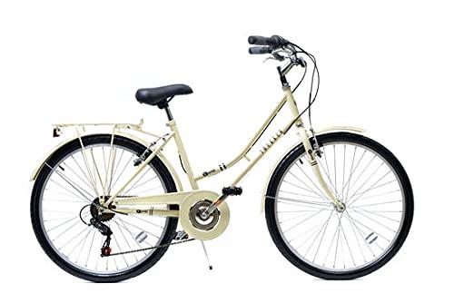 Aurai Trekker Ladies Heritage Bike 26' Wheel 6 Speed Cream