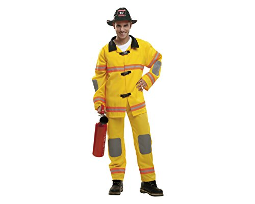 My Other Me - Disfraz Bombero amarillo adulto, talla S (Viving Costumes MOM02117)