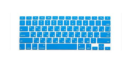 Us Layout Russian Letters Russia Alphabet Keyboard Stickers For Macbook Pro 13' 15' 17'/Macbook Air 13 Silicone Keyboard Cover-Gold